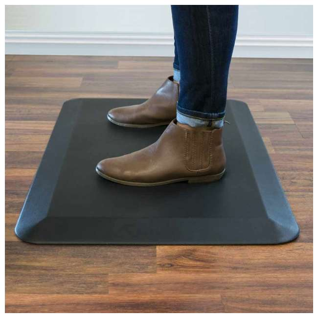 6 x AFM - Flat LifeSpan 34 x 20-Inch Home Office Non-Slip Standing Mat, Black (6 Pack) 2