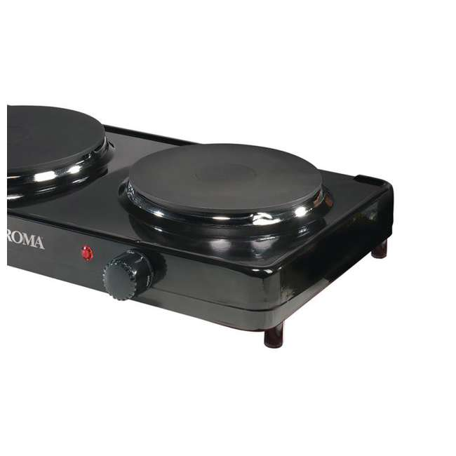 AHP-312 Aroma Cast-Iron Double Burner Hot Plate (2 Pack) 5