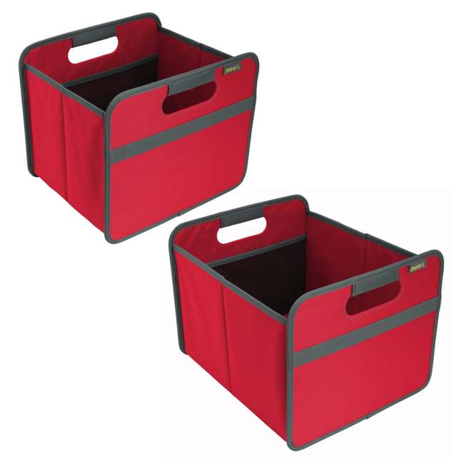 A100062 + A100200 Meori Classic Collection 4 & 6.5 Gallon Foldable Boxes, Hibiscus Red