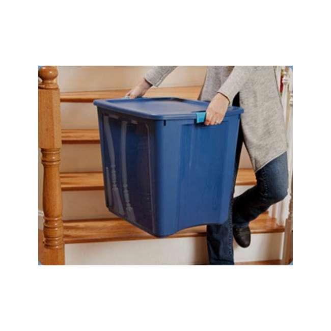 4 x 14489604-U-A 4 Pack Sterilite 26 Gallon Latch & Carry Storage Tote Box Containers (Open Box) 4