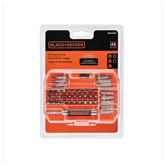 BDCK502C1 + 71-912 Black & Decker Drill Driver, Jig Saw, Sander & Flashlight Kit & Bit Set 6