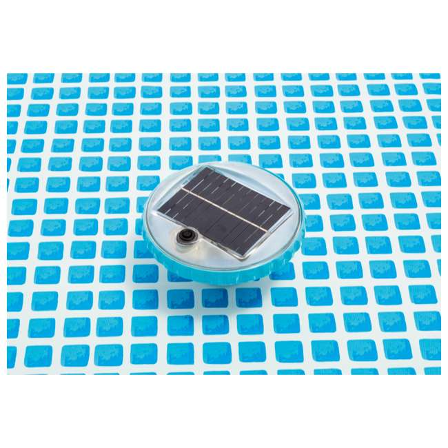 28695E Intex 28690E 3 Color Changing Solar Powered Auto On LED Floating Pool Light 1