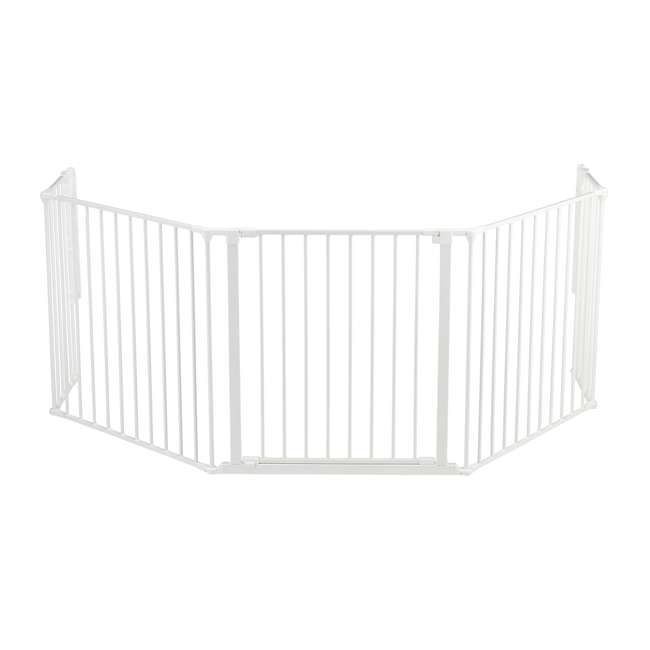 "BBD-56814-10400 BabyDan Flex Hearth 35.4-109.5"" XL Size Safety Baby Gate for Fireplace, White"