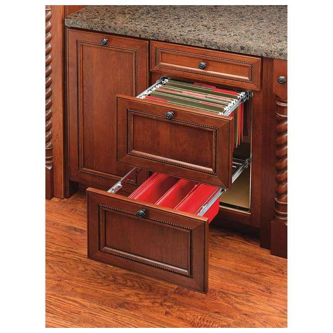 RAS-FD-KIT Rev-A-Shelf RAS-FD Series 2 Tier Standard Height Base Cabinet Organizer, Chrome 4