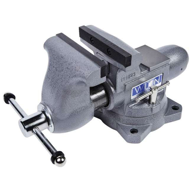 JPW-28807 + WIL-20412 Wilton Swivel Base Bench Vise w/ 4 Pound Sledge Hammer 3