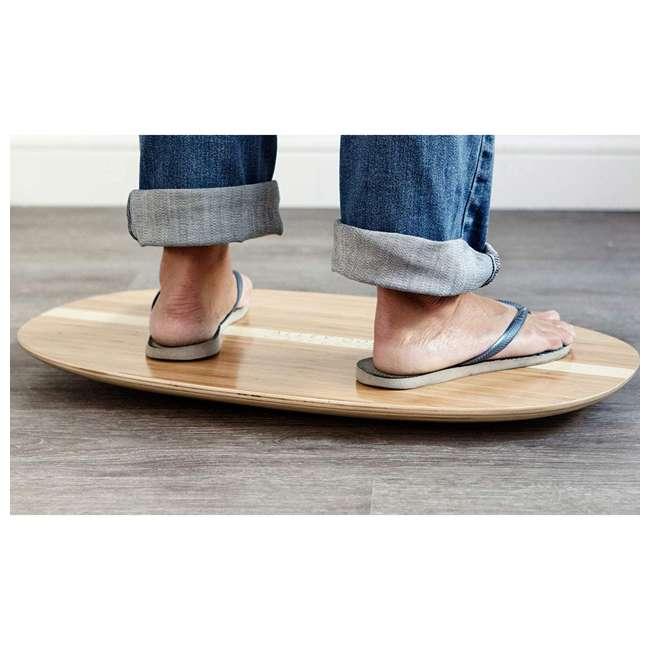 WRF-S-21770-00 JumpSport AlleyOOP Standing Desk Balancing Wood Rocker Board, Bamboo, Medium 3