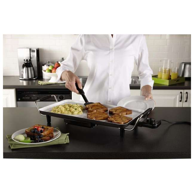 CKSTGR18WC-ECO Oster DuraCeramic Griddle with Drip Tray 1
