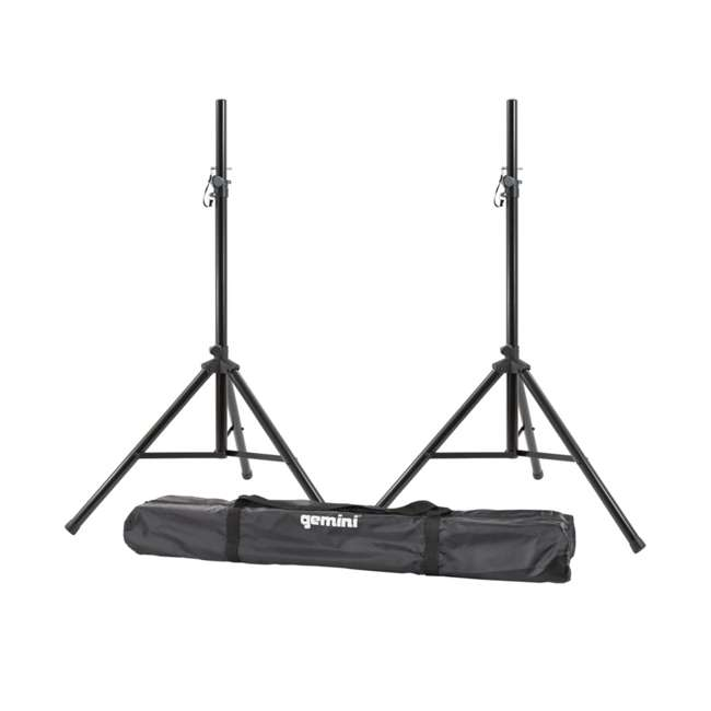 "AS-08P + ST-PACK Gemini AS-08P 8"" Active Powered PA Loudspeaker (2 Pack) with Tripod Stands & Bag 4"