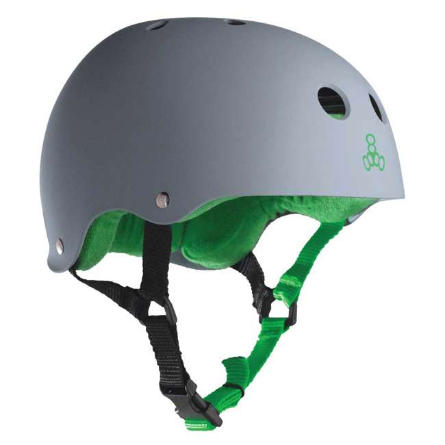 12 x T8-1077 Triple 8 Hardened Skate Helmet with Sweatsaver Liner, Carbon - Medium (12 Pack) 4