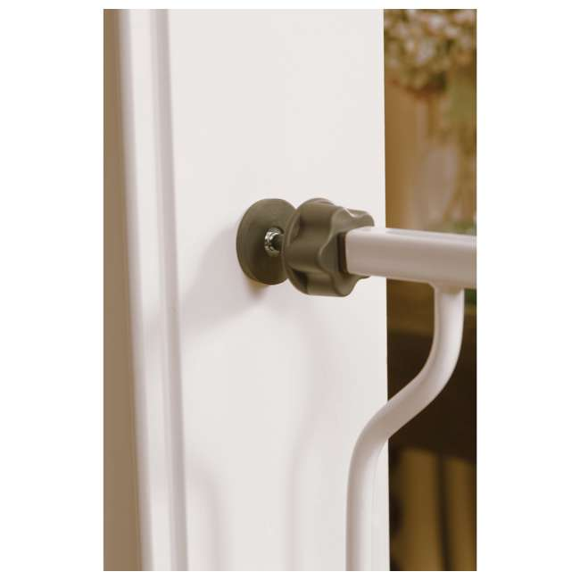 1154DS-U-A Regalo Metal Frame Adjustable WideSpan Extra Tall Baby Gate, White (Open Box) 2
