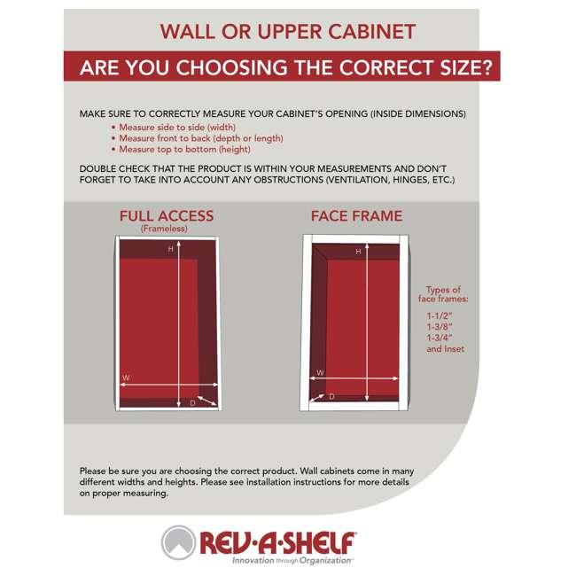 4SR-21 Rev-A-Shelf 21 Inch Cabinet Door Mount Wood 3 Shelf Spice Rack with Hardware 4