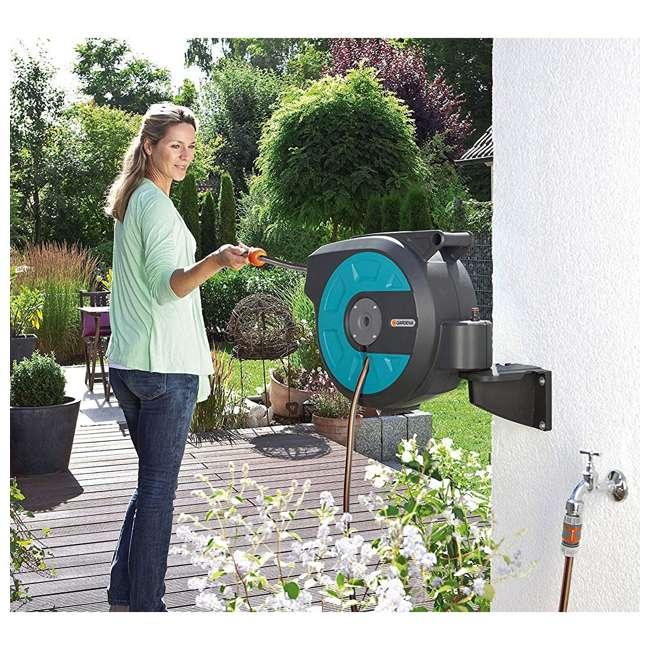 GARD-8022-20 Gardena Wall Mount Automatic Hose 50-Foot Reel Box 4