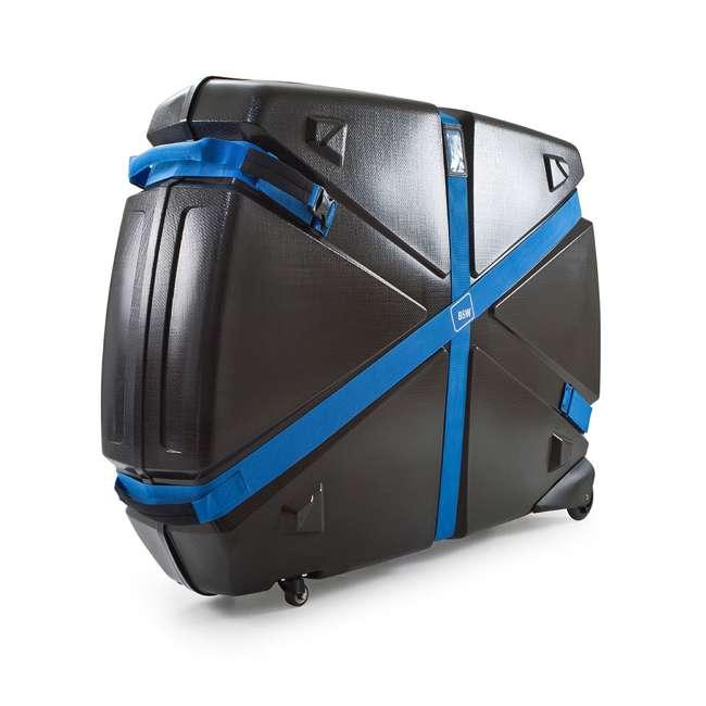 96015 B&W International Hard Impact Resistant Weatherproof Bike Guard Curv Case, Blue