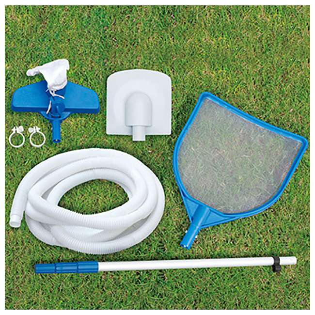 "P4B02048B167 + QLC-42005 Summer Waves 20' x 48"" Above Ground Pool + Qualco Pool Chemical Maintenance Kit 5"