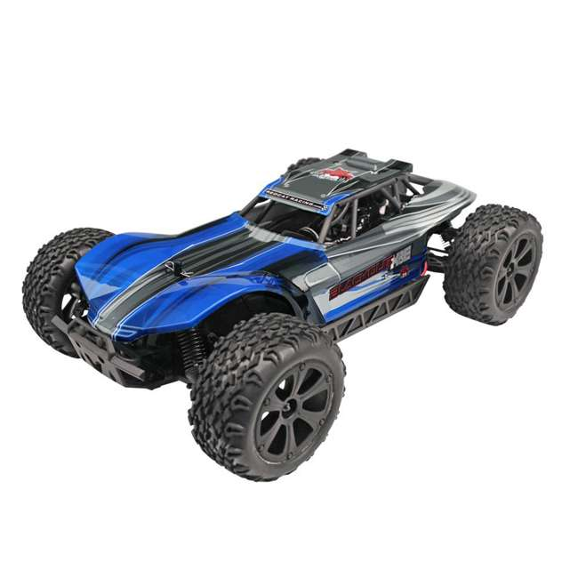 BLACKOUT-XBE-BLUE-U-C Redcat Racing 1/10 Scale Brushed Electric RC Monster Buggy, Blue (For Parts) 2