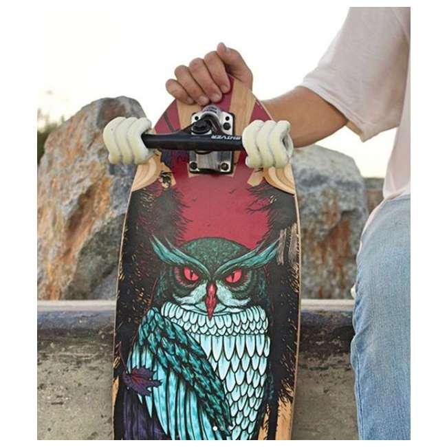 1000S70MMS78AW Shark Wheel Sidewinder 70mm 78A All-Terrain Skateboard Wheels, White 4
