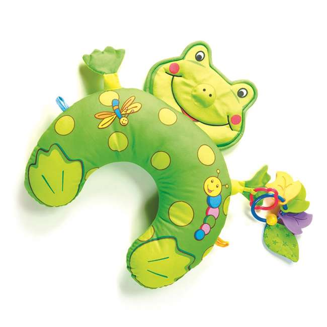 00941003 Tiny Love Frog Tummy Time Fun Play Mat and Pillow with Stand Alone Mirror, Green 1