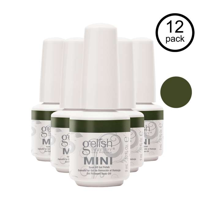 12 x 04291-DearJohn Gelish Mini Dear Johnny Green UV Led Soak Off Gel Nail Polish Bottle 9 mL (12 Pack)