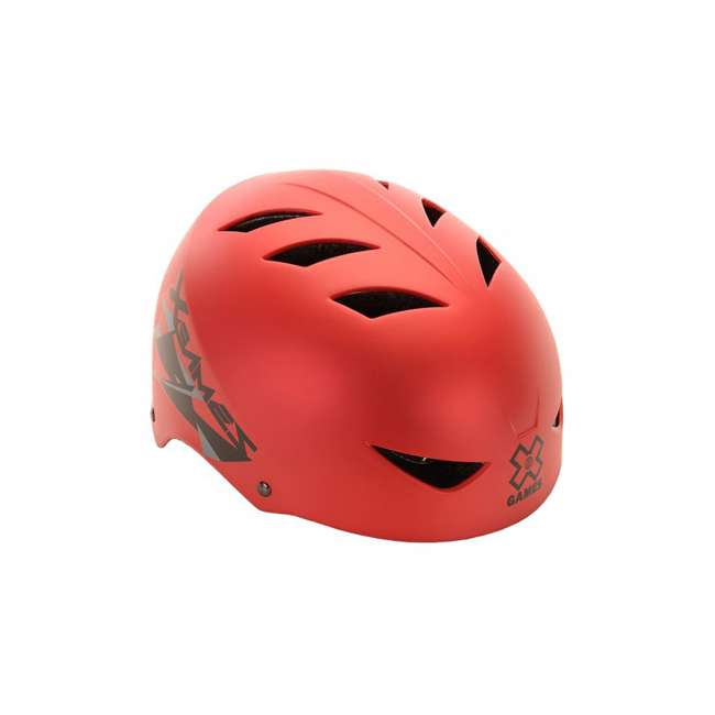 97404 Kent Bikes X Games V17 22 to 23.5 Inch Sport Youth Safety Helmet, Satin Red