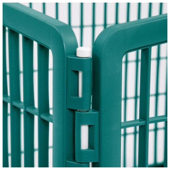 585600 IRIS USA 585600 4-Panel Plastic Indoor Outdoor Pet Playpen, Everglade Green 1