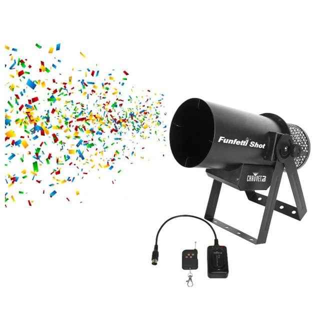 FUNFETTI-SHOT Chauvet DJ Pro Confetti Launcher with Remote (2 Pack) 1