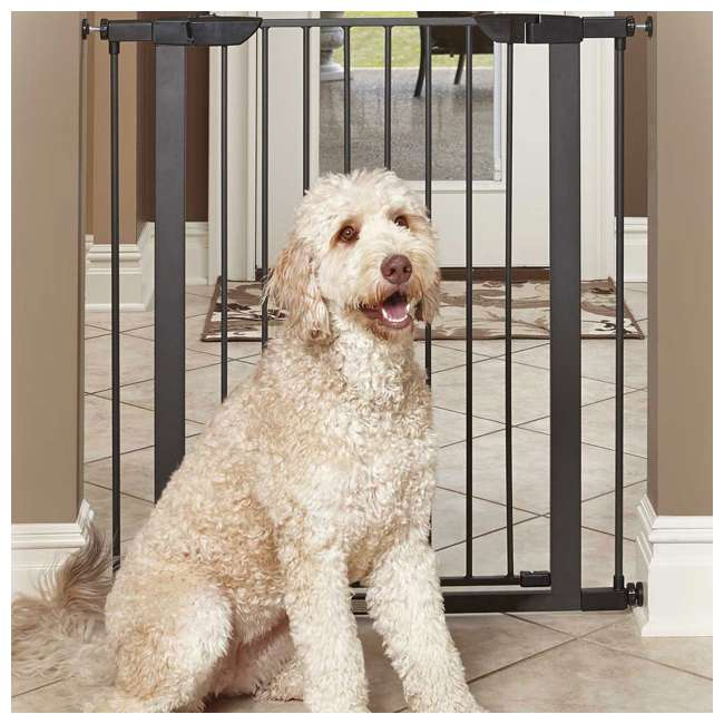 2939SG-U-A MidWest Homes for Pets 39-Inch Tall Dog Pet Puppy Gate, Graphite (Open Box) 2