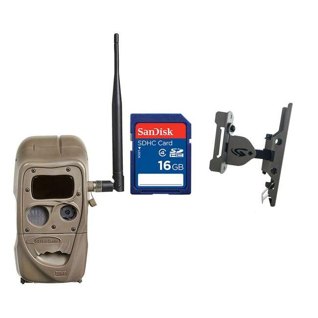 J1422-BLACKFLASH + Accessories Cuddeback Black Flash 20MP IR Game Camera + 16GB SD Card + Game Camera Mount