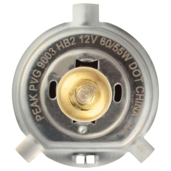 9003PVG-2BPP PEAK Lighting Gold HB2 60W Bright White Halogen Headlight Bulbs 2