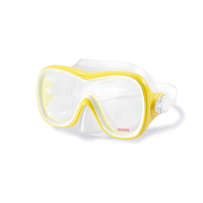 55647E-U-A Intex Wave Rider Latex Free Mask & Easy Flow Snorkel Swim Set (Open Box)(2 Pack) 2