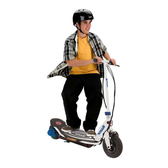 13111210 + 97778 Razor Power Core Electric Kids Toy Motorized Scooter and Youth Helmet, Black 4