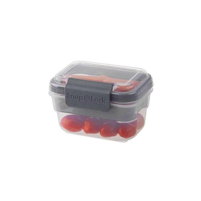SNL-1000GY Progressive International SNL-1000GY Snaplock Snack To Go Plastic Container 4