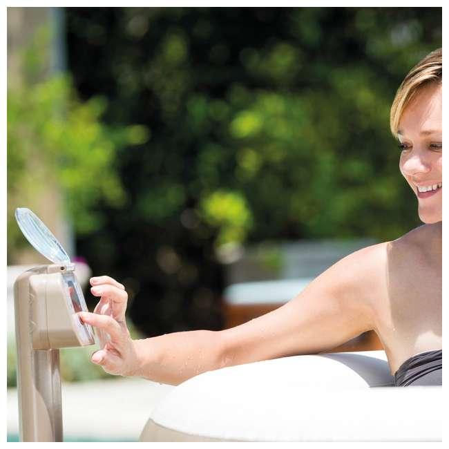 28407VM + 28500E + 2 x 28501E Intex PureSpa 6 Person Inflatable Hot Tub & Cup Holder & Headrest (2 Pack) 6