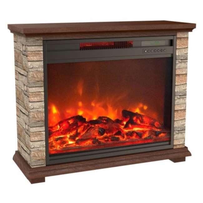 FP1136 Lifesmart FP1136 Large Room Infrared Quartz Fireplace Zone Heater, Faux Stone 1
