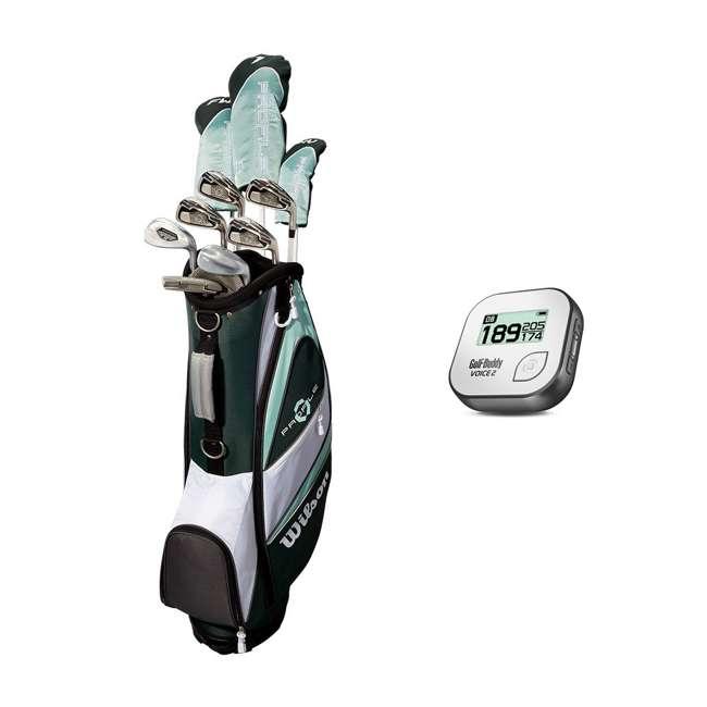 WGGC4380L + GB7-VOICE2-GREY Wilson Profile XLS Women's Left Hand Graphite Golf Club Set & Range Finder