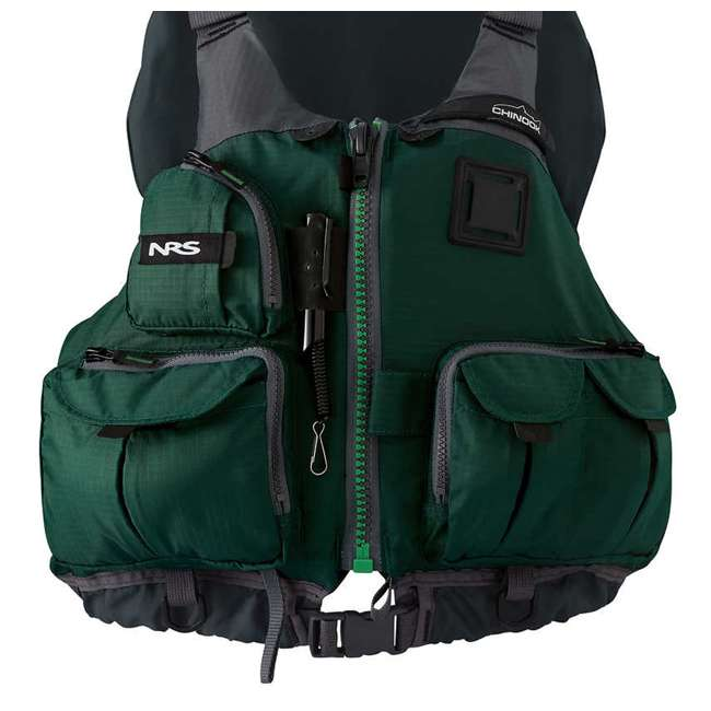 4 x NRS_40009_03_106 NRS Chinook Fishing PFD XX-Large Safety Life Jacket, Green (4 Pack) 5
