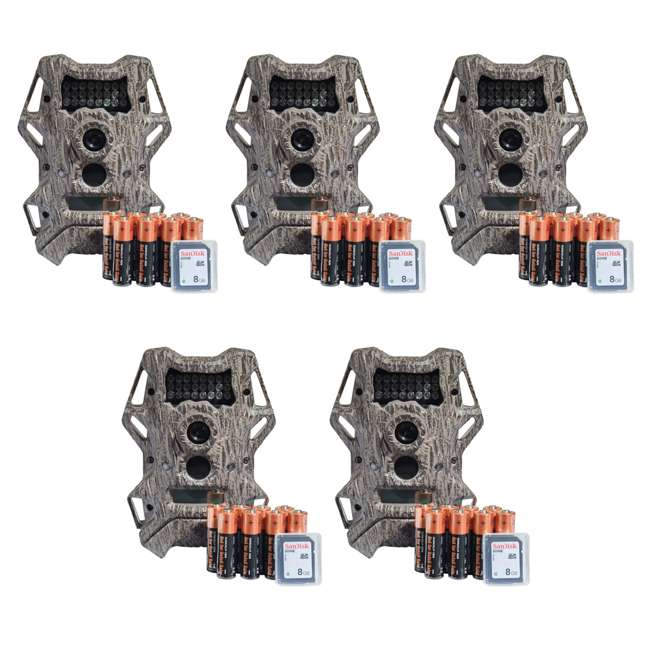 5 x WGICM0571 Wildgame Innovations Cloak 14 14MP 720p Infrared Hunting Trail Camera (5 Pack)