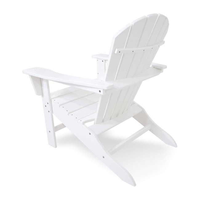 ADIRONDACKW Leisure Classics UV Protected Indoor Outdoor Lounge Deck Chair, White (2 Pack) 2