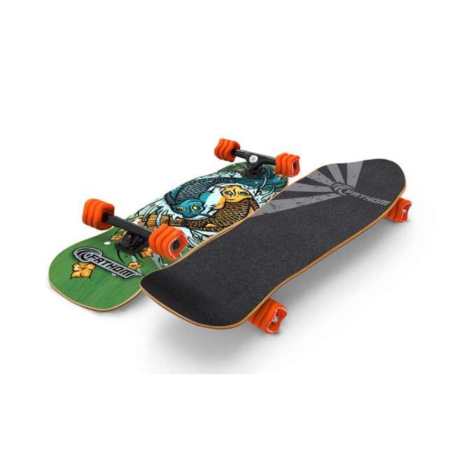 T8-3066 + 08231-SHARK Triple 8 Skate and Bike Helmet, Neon Tangerine + Fathom Shark Wheel Komoyo Cruiser Longboard, Green 6