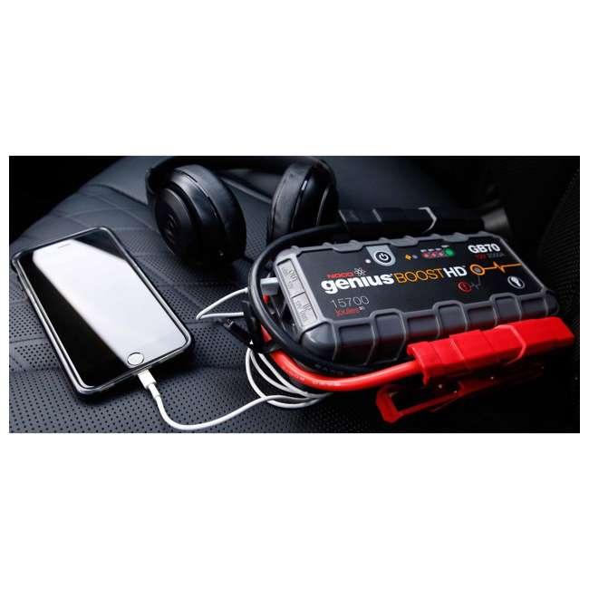 GB70 Noco Genius GB70 Boost HD 2000-Amp UltraSafe Jump Starter 3