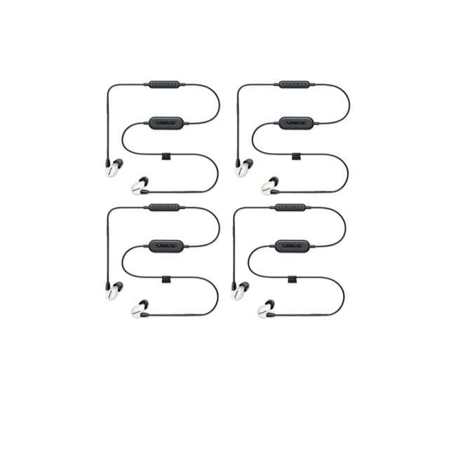 4 x SE215SPE-W-BT1 Shure Sound Isolating MicroDriver BT Earphones, White (4 Pack)