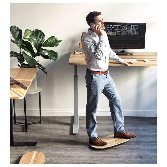 WRF-S-21733-00 JumpSport AlleyOOP Standing Desk Balancing Wood Rocker Board, Gray, Medium 4
