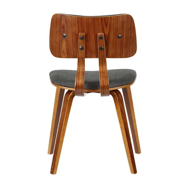 LCJASIWACH Armen Living Jaguar Mid-Century Dining Chair in Walnut Wood and Charcoal Fabric 3