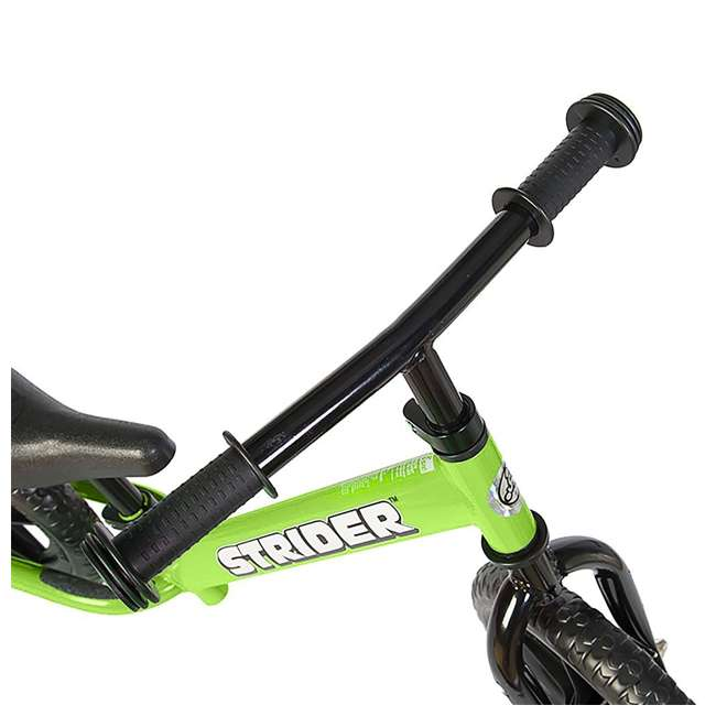 ST-M4GN + PSKISET-12-BK Strider 12 Classic Balance Kids 18 - 36 Months Bike, Green + Strider Snow Ski Set  3