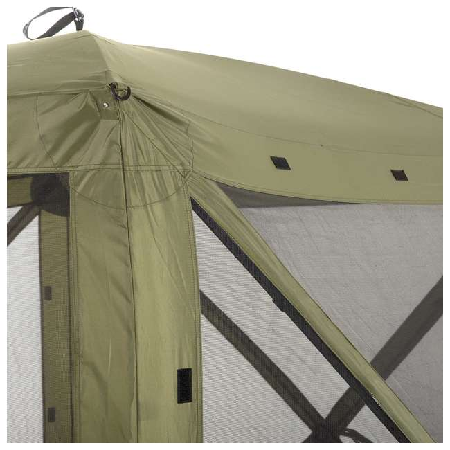 CLAM-TV-9870 + 2 x CLAM-WP-2PK-9896 Clam Quick-Set Traveler Shelter w/Wind Panels (4 Pack), Green 5