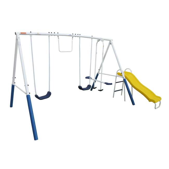 XDP-74303 + XDP-70113 XDP Blue Ridge Play Backyard Swing Set with Slide + Anchor Kit 1