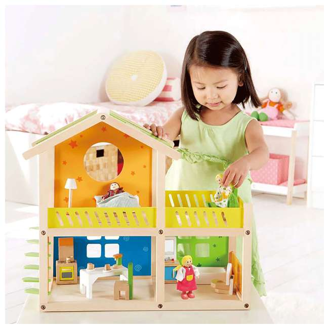 Hape Happy Villa Wooden Dollhouse