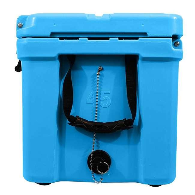 CKR-511545 nICE 45 Quart Bear Resistant Cooler, Light Blue 2