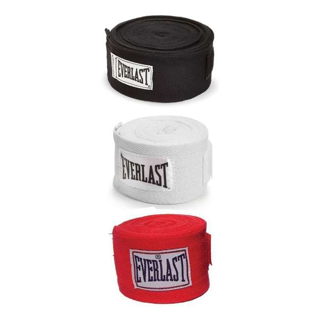 P00001240 + 4455-3 Everlast Boxing Gloves Size 12 Ounces & Hand Wraps (3 Pack) 5