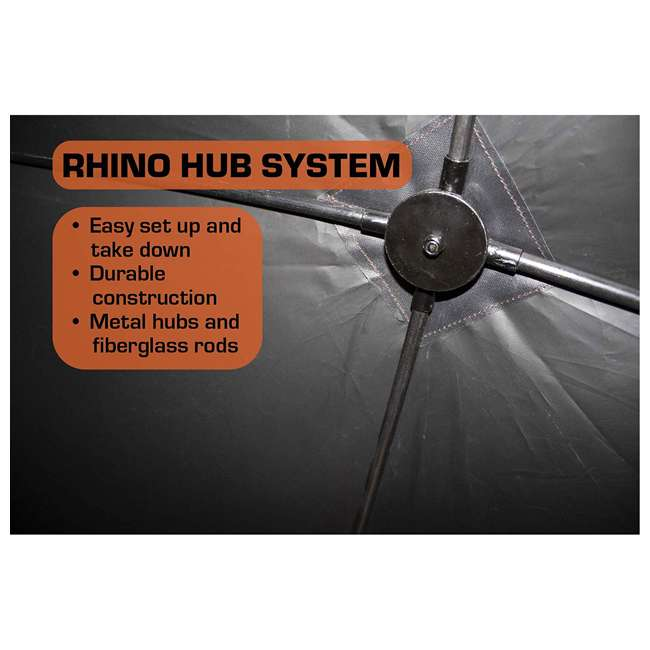R500-RTE Rhino Blinds R500-RTE RealTree Edge 3 to 4 Person Hunting Ground Blind, RealTree 2