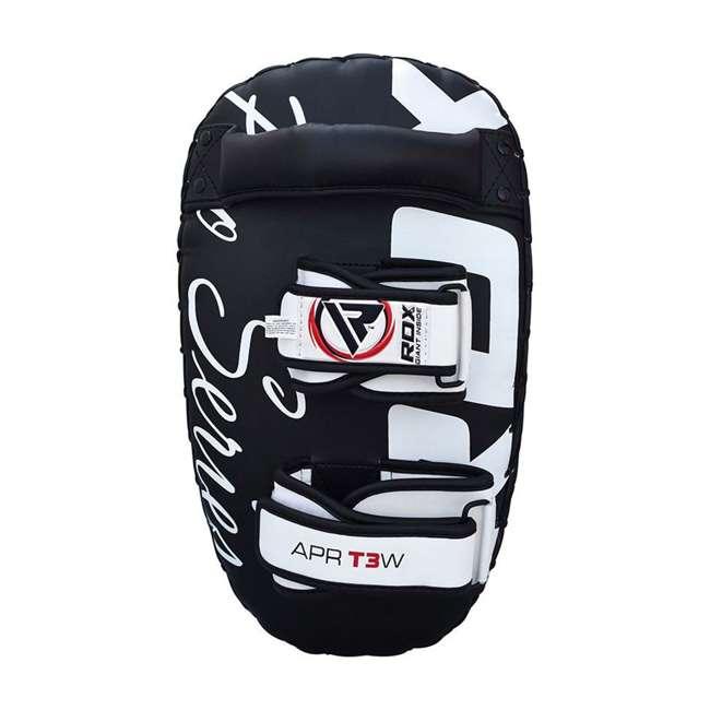 APR-T3W-PAIR RDX T3 Orbit Pro Fighter Training Thai Kickboxing Pads, Black 3